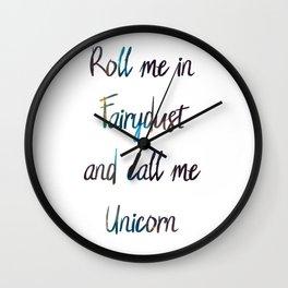 Fairydust Unicorn Wall Clock