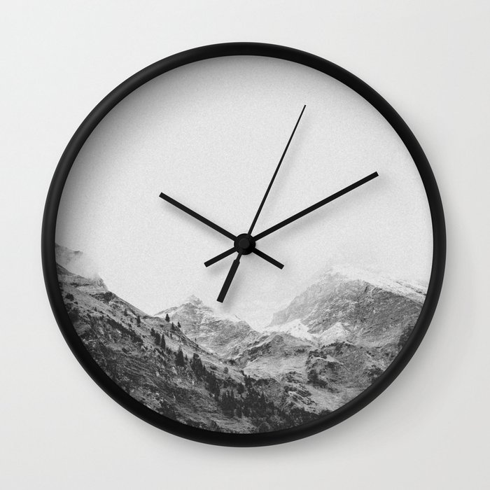 THE MOUNTAINS IV / Bavarian Alps wall clock by Adventure Awaits