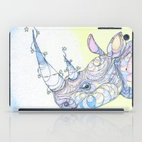 rhino iPad Cases featuring Rhino by Kate Fitzpatrick