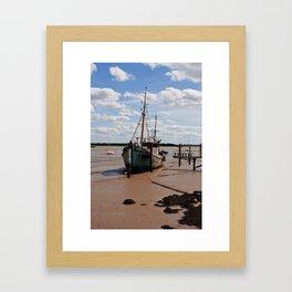 Waiting for the tide. Framed Art Print