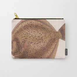 Vintage Flounder Fish Illustration (1919) Carry-All Pouch