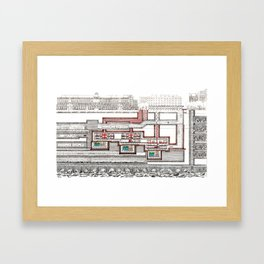 SUBTERRANEAN LONDON Framed Art Print