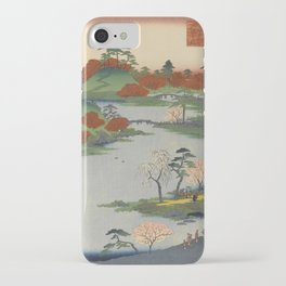 Summer Garden Ukiyo-e Japanese Art iPhone Case