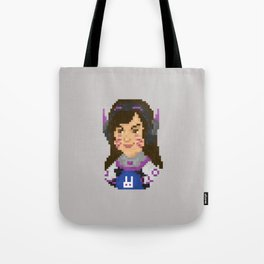 Dva Pixel Portrait Tote Bag