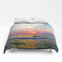 Naples Florida sunset on the Gulf of Mexico Comforters