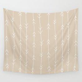 Arrow Pattern: Beige Wall Tapestry