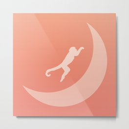 The Monkey Over The Moon Metal Print