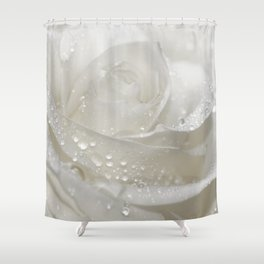 Rose white 0115 Shower Curtain