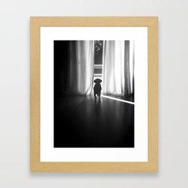 Peeking Out - Noir Framed Art Print