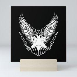 Bald Eagle With Lightnings Mini Art Print