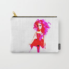 Bright Young Woman Carry-All Pouch