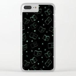 Classic Books Invert Green Clear iPhone Case