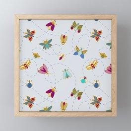 Bugs n butterflies Framed Mini Art Print