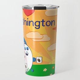 Ernest and Coraline | I love Washington Travel Mug