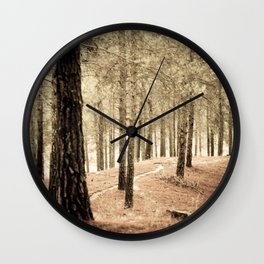 Forest BW 02 Wall Clock