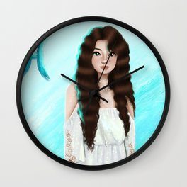 Pisces Zodiac Girl Wall Clock