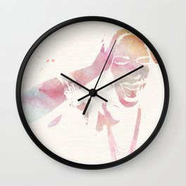 Woman Scream Wall Clock