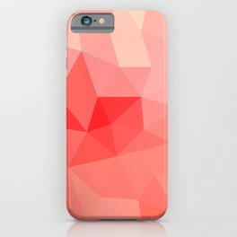 Shades of Coral Low Poly Design iPhone Case