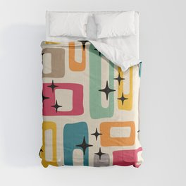 Retro Mid Century Modern Abstract Pattern 242 Comforters