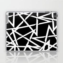 Interlocking White Star Polygon Shape Design Laptop & iPad Skin