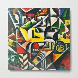 """Lyubov Popova """"Cubist urban landscape"""" Metal Print"""