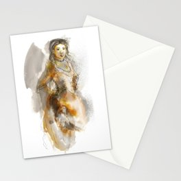Saloon girl Stationery Cards
