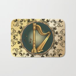 Golden harp Bath Mat