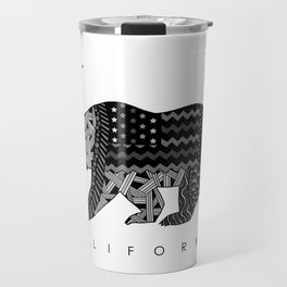 California Black & White Travel Mug