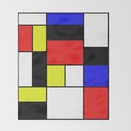 Mondrian #21 Throw Blanket