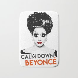 """Calm down Bey!"" Bianca Del Rio, RuPaul's Drag Race Queen Bath Mat"