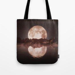 Misty Moon Tote Bag