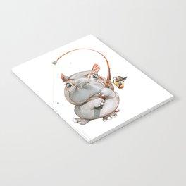 A hippopotamus fishing Notebook