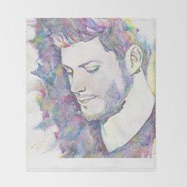 Jensen Ackles - Watercolor Throw Blanket