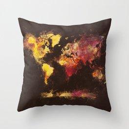 world map 63 Throw Pillow