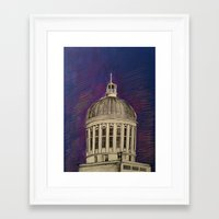 montreal Framed Art Prints featuring Montreal by Shazia Ahmad