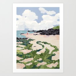 Jeju beach Art Print