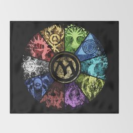 Magic the Gathering - Faded Guild Wheel Throw Blanket