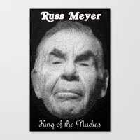 kevin russ Canvas Prints featuring Russ Meyer Tribute Poster by Holland