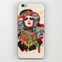 woman iPhone & iPod Skins featuring Woman by Felicia Atanasiu