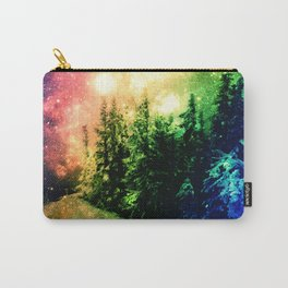 Galaxy Forest Rainbow Snow Carry-All Pouch