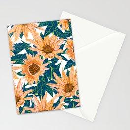 Blush Sunflowers Stationery Cards