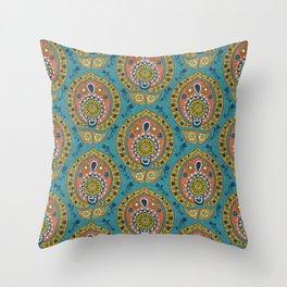 safa blue Throw Pillow