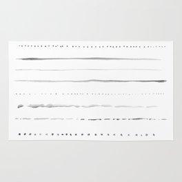 Minimalist Lines in Gray Rug