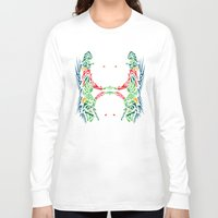 tigers Long Sleeve T-shirts featuring Tigers #2 by Ornaart
