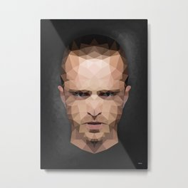 Jesse Pinkman - Portrait - Low Poly Metal Print