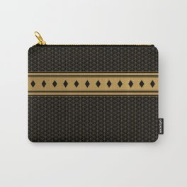 Rich Black Gold Diamond Pattern Design Carry-All Pouch