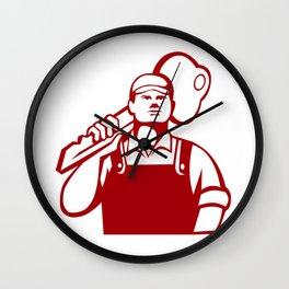 Locksmith Carry Key Shoulder Retro Wall Clock