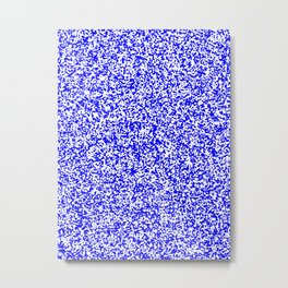 Tiny Spots - White and Blue Metal Print