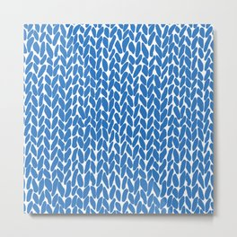 Hand Knit French Blue Metal Print