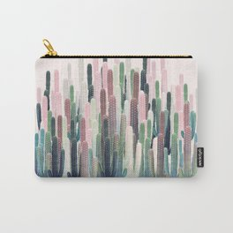 Cacti Stripe Pastel Carry-All Pouch